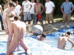 I mean its not embarrassing enough playing naked in a nasty fake pool gay bear group sex