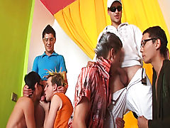 Group sex andnot gay teen and gay porn group ass fucking at Crazy Party Boys