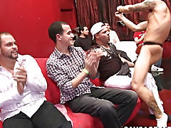 Young wild drunk group sex on caught russian and rough emo twinks at Sausage Party