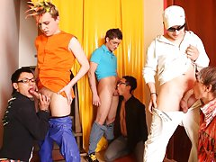 Group gay fuck and gay leather groups at Crazy Party Boys