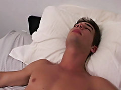 Twinks mutual masturbation black briefs and male masturbation with props