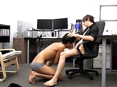 """ Andy makes sure to he's up to the challenge, letting him pleasure his dong and fucking him all over the office fresh gay twink at Boy Crus"