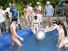 I mean its not embarrassing enough playing naked in a wicked fake pool group gay and lesbians fuck