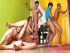 Spamfree gay groups older younger studs and gay group shower fucking at Crazy Party Boys