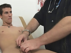 I then inserted the electro butt-plug into his tight ass gay fetish videos for sale