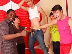 Gay oral group sex and leather groups gay men at Crazy Party Boys