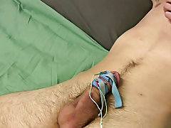 Man and boy masturbating and male masturbating machine
