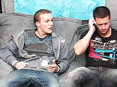 Jerking each other off turns into sucking, which of course turns into fucking stud muscle dick man cock at My Husband Is Gay