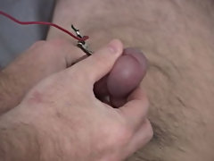 I left the current hooked up to Mark's cock and jerked him off at the same time guy masturbation perfection