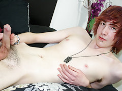 He undresses his raiment off throughout the video, whilst wanking his cock until he is rock hard gay boy sucking boys at Homo EMO!