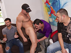 Hot gay guys group sex and gay oral group sex pics at Sausage Party