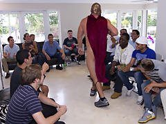 Gay rimming groups and gay group sex free at Sausage Party