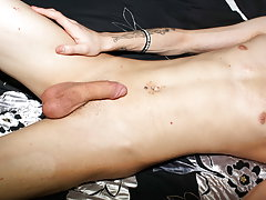 Hot emo twink Lewis Romeo gets down and smutty in his 1st ever HomoEmo solo video naked boy video at Homo EMO!