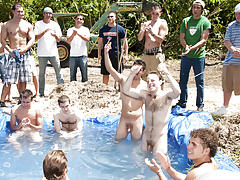 The winners certainly were excempt from hell week but the losers had to pay the ultimate price group men sex