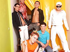 Gay groups chat rooms and gay group circle jerk off at Crazy Party Boys