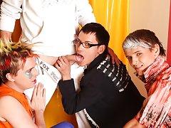 Gay jocks videos big cock group free and group male masterbation at Crazy Party Boys