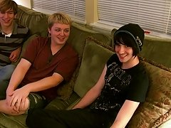 Aron's rewarded with a thick double facial from the other boys, so hot gay young black twinks - at Boy Feast!