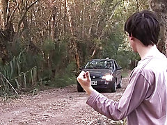 Young gay sex outdoor