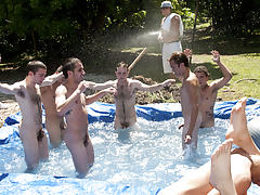 as punishment for losing these unfortunate pledges had to suck each their off in front of their brothers and fellow pledges group gay anal sex