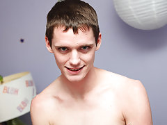 He's never been with a guy but realizes there's no better way to make friends than to be a generous bottom for some twink fucking gay first