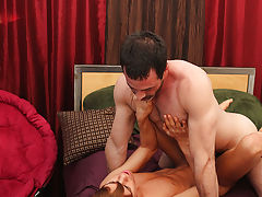 Mike gets on the sofa and Kyler sits back on him, working Mike's dong up his taut hole men anal pics at I'm Your Boy Toy