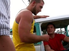 He meets one of his old fuck buddies in the back of a run-down Chevy in some junk yard