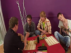 Group sex guy and gay group facials at Crazy Party Boys