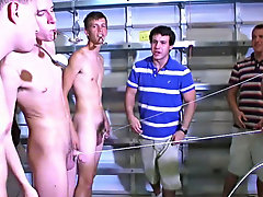 the 2nd studied their mental skills answering some questions, and the third was a coordination test mind you they had to do all this while being nude