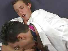 Justin Case and Seth O'conner are home after school all alone his first gay muscle man at Teach Twinks