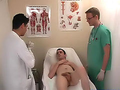 The two doctors spread my arse apart and then inserted the thermometer into my booty to see what my temperature was
