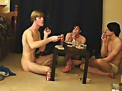 Cute black men with uncut cocks and gay english men solo uncut cum shots - at Boy Feast!