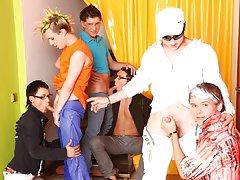 Gay videos big cock groups and gay group sex men at Crazy Party Boys