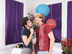 They kiss and suck each other and then Gabriel proceeds to fuck Lucas' tight ass with a huge dildo amature gay twink