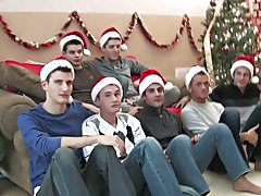 Justin then gets behind Eric and begins to fuck him male masturbate group at Broke College Boys!