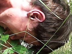 My friends brushed ass outdoors pissing men