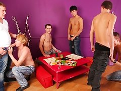 Take a look how quickly that spice starts to works for these boys male groups nude photo at Crazy Party Boys