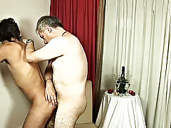 This young man and older lover were so ecstatic to finally start celebrating the new year that as soon as they had a drink, they were ready to anoint