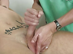 I then had him hope down on the exam table and had him bend over as I took his temperature with the anal thermometer male car masturbating