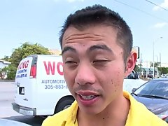 just walking around so i just had to try it out and who knew...he was gay so my boy just had to have a piece of this guys ass lol gay asian ass licker