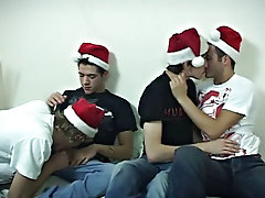 ZACH, MIKE, CODY & LUKE Press a Merry Christmas and divulge me know what you think of the last scene in the christmas run amature gay twinks