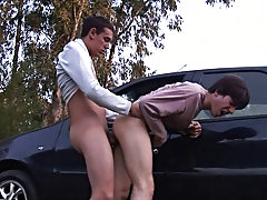 Erick and Julian make it first time male nudist outdoors at Julian 18
