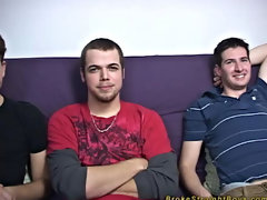 All three of the guys stood rubbing each other's bodies, and played with unified another's dicks gay twinks video