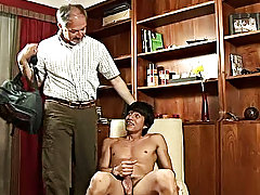 Wasting his precious hardness and young when he's got his older lover to procure these twink gems gay boy and man
