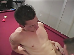 Trystian rims and fucks the daylights outta Luke, while Devin lends his huge cock in between stroking it amateur gay video