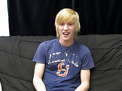 This new blonde stud gives a super sensual interview for his first BC vid gay twink blow jobs at Boy Crush!