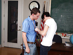 Today Aidan is a top and he's accepted to give his new friend the fucking of a lifetime interracial gay twinks at Teach Twinks