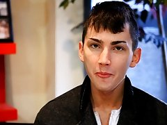 We wrapped up a Lollipop Twinks shoot with him and he was eager to talk to us gay twink facial