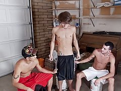 I'd exhale them an additional $100 outdoor group gay sex fuck at Broke College Boys!