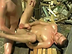 Fischer has some lovely low slung balls that bounce about as he pounds Ermann's muscled butt gay men pissing outdoors