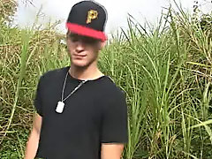 The guys trampled through the reeds and as they came to the clearing I caught them on video his first gay sex anthony